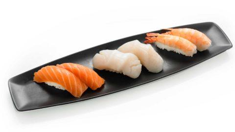 Nigri Laks Kamskjell Scampi Nishi Sushi Oslo