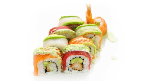 Special- Dragon Maki Rainbow Maki Nishi Sushi-Oslo