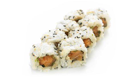 Ura Maki - Spicy Laks Maki sushi